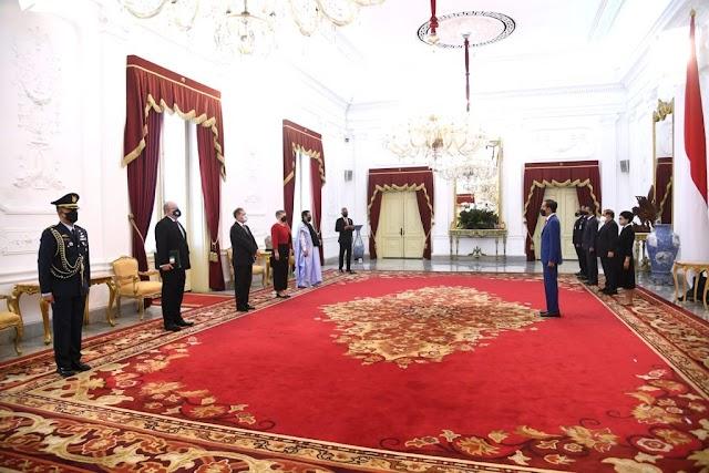 Presiden Terima Empat Dubes LBBP Negara Sahabat