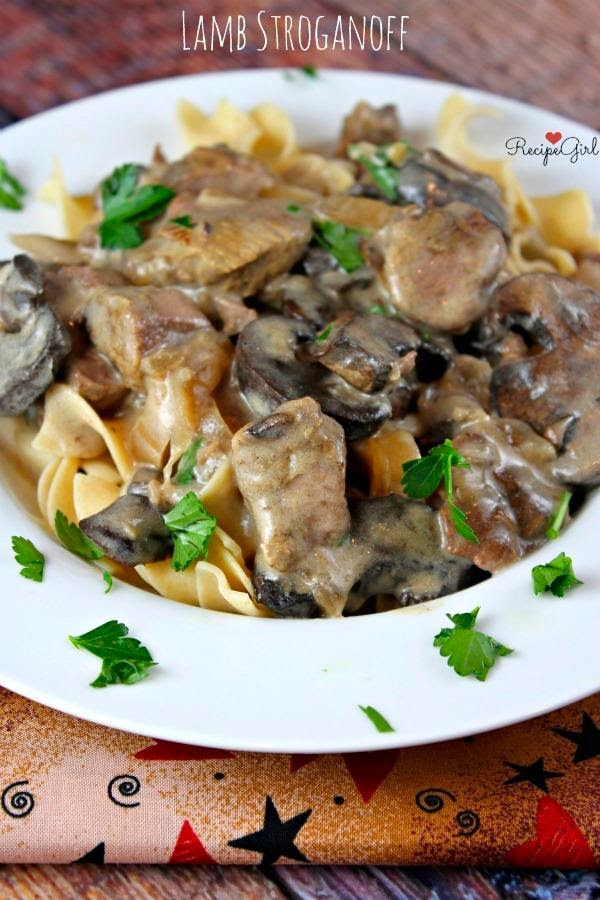 Slow Cooker Lamb Stroganoff from Recipe Girl found on SlowCookerFromScratch.com