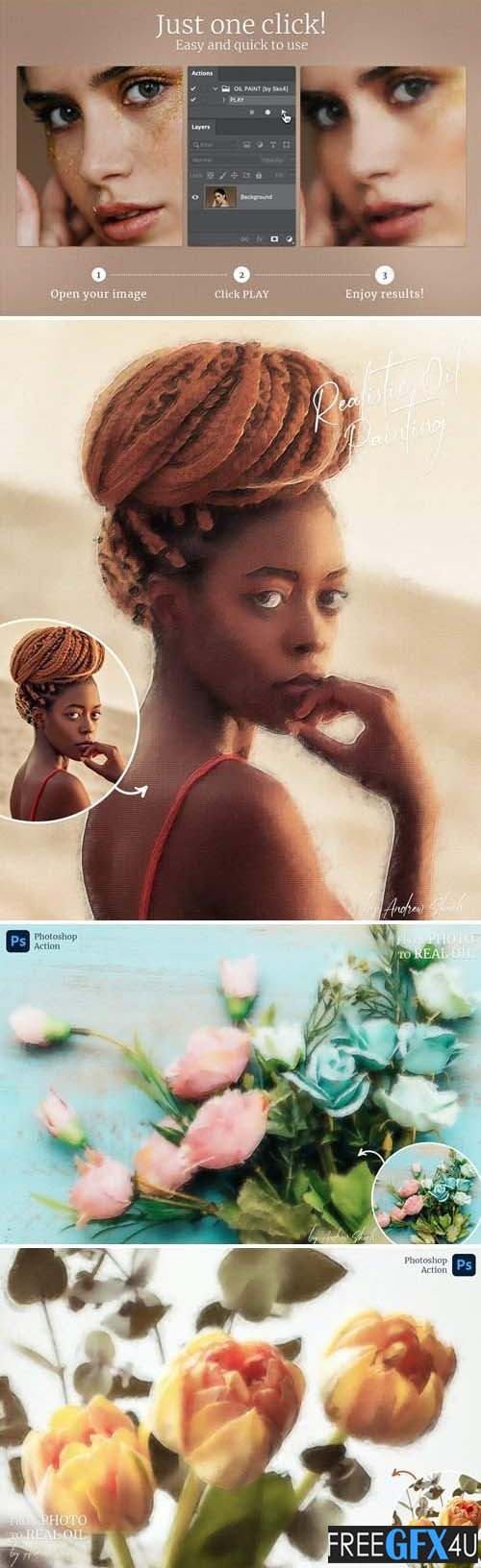 Realistic Oil Painting - Photoshop Action
