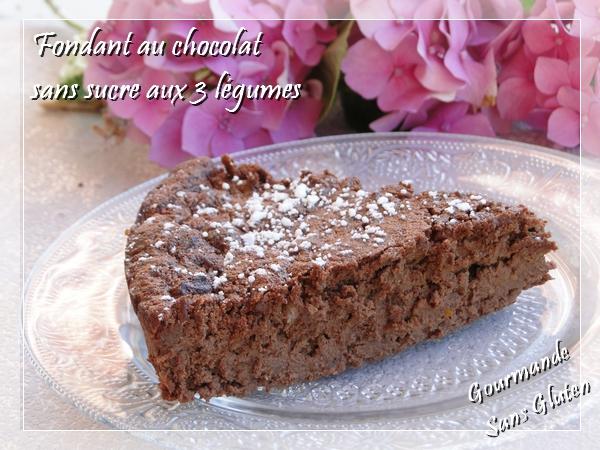Fondant au chocolat sans gluten sans sucre aux 3 légumes