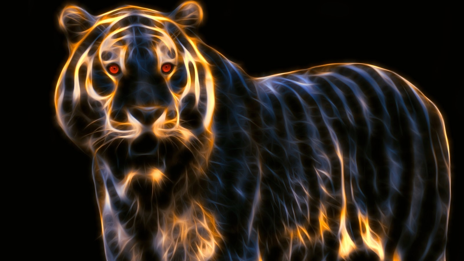 Fond ecran tigre 3d fonds d 39 cran hd for Fond ecran animaux hd