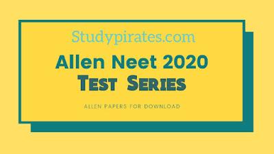 Allen Test Series for NEET