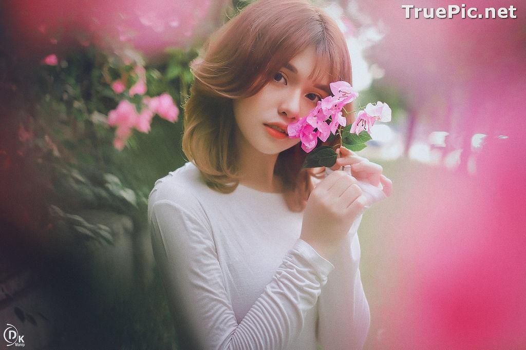 Image Vietnamese Beautiful Model - Bougainvillea Flowering Season - TruePic.net - Picture-10