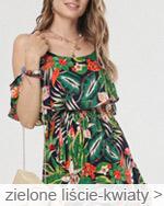 letnie sukienki i plecione koszyki