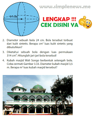 Kunci Jawaban Buku Senang Belajar Matematika Kelas 6 Halaman 126, 127, www.simplenews.me