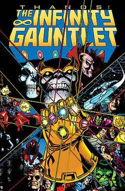 infinity gauntlet comic cover