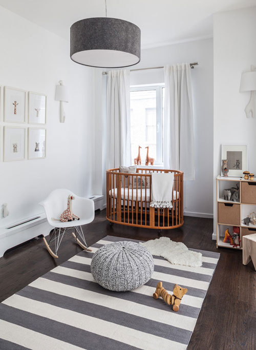 In Preparation I Thought D Share This Wonderful Calm Grey White And Wood Nursery Designed By Sissy Marley A Nyc Based Boutique Baby Planner
