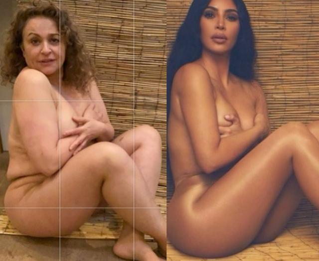 Loose Women panellist, Nadia Sawalha, strips N*ked to look like Kim Kardashian