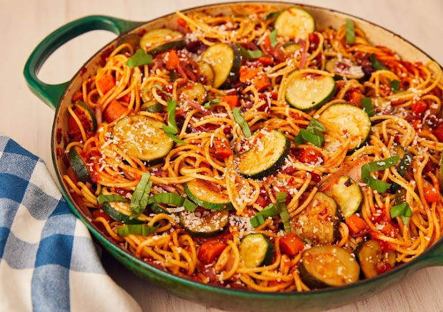 Vegetable Spaghetti #vegan #dinner