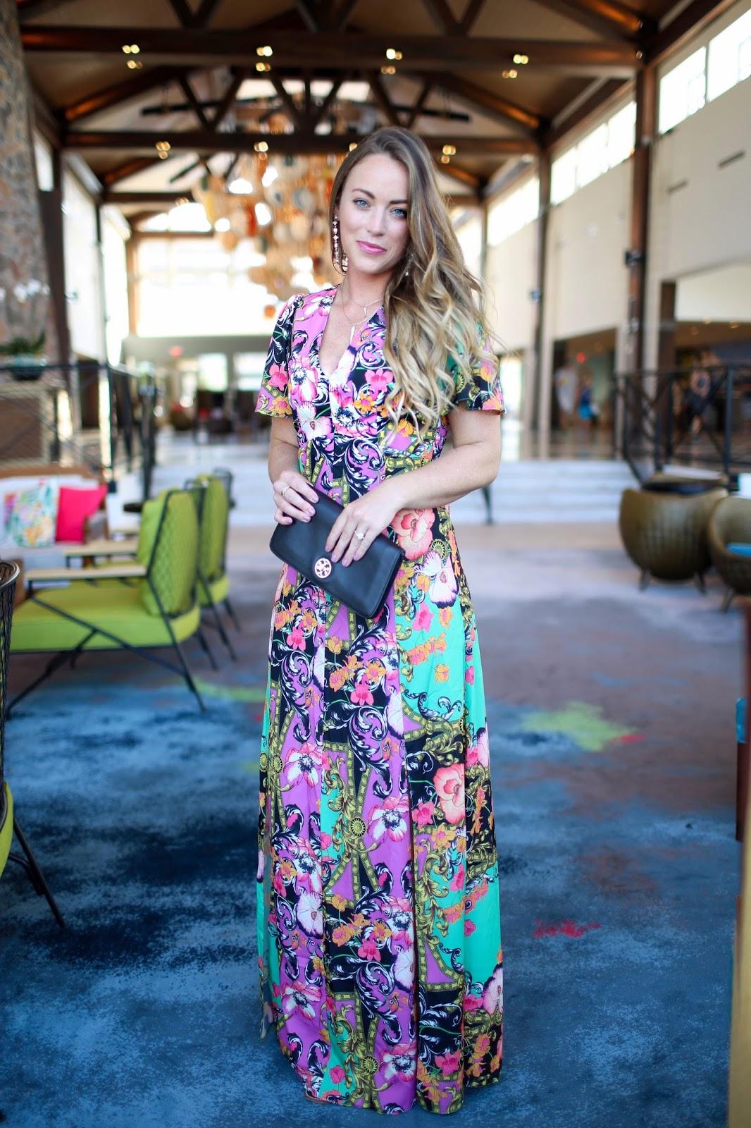 ASOS Scarf Print Maxi Dress at Loews Sapphire Falls Resort