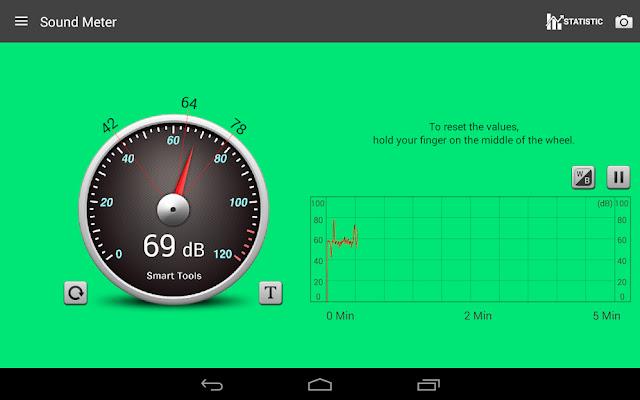 قم بتنزيل Sound Meter Pro 2.6 - تطبيق قياس شدة الصوت مع عرض الإحصائيات