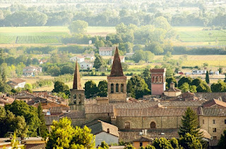 A view across the rooftops of Sansepolcro