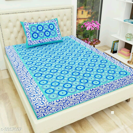 Elite Trendy Cotton Printed Single Bedsheets Vol 2