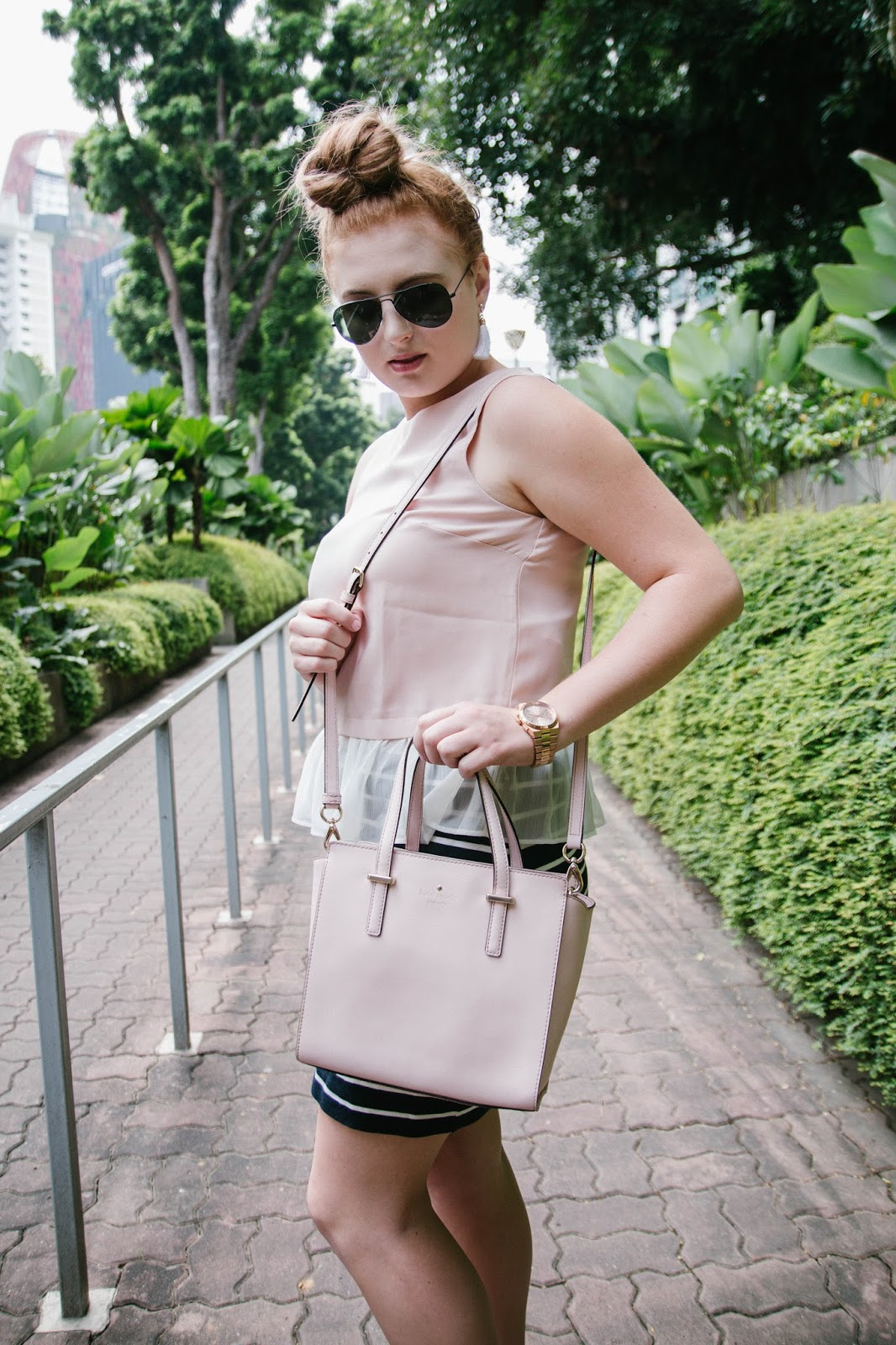 Asos Pink Peplum top for Valentine's Day in Singapore | GlobalFashionGal by Brianna Degaston
