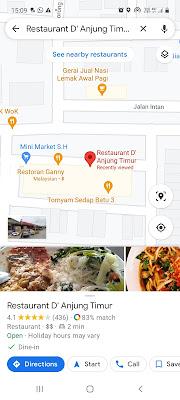Restaurant D' Anjung Timur 013-308 3345 https://maps.app.goo.gl/rYbZPxVMgRb36YuT6