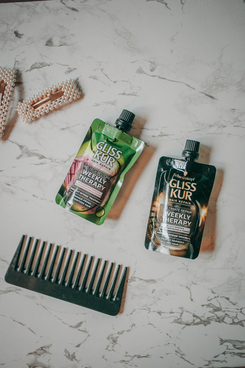 Beauty review: Gliss Kur Weekly Therapy Hair Repair pouches