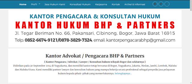 Membuat Website Kantor Pengacara