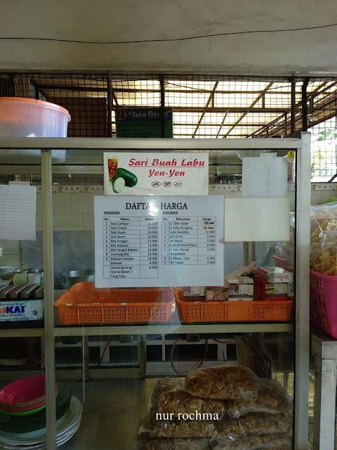 daftar harga makanan depot sundari gresik