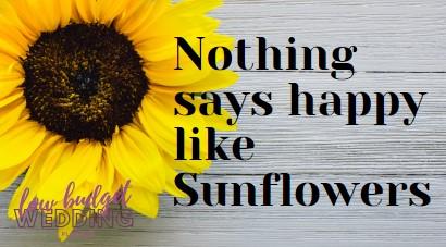 Sunflower country western rustic wedding