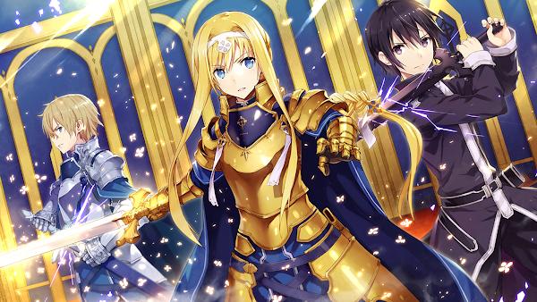 Sword Art Online Alicization kirito eugeo alice