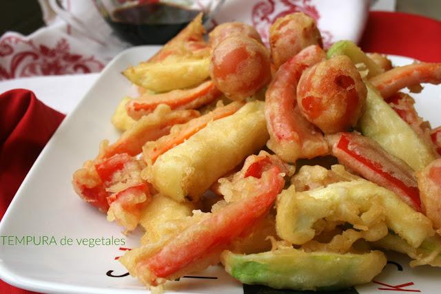 Tempura, tempura de verduras