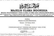 Fatwa MUI: Panduan Kaifiat Takbir dan Shalat Idul Fitri Saat Pandemi Covid-19