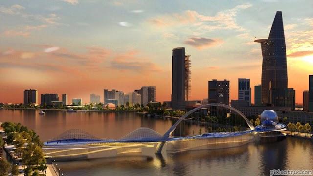 Mô hình thiết kế cầu đi bộ qua sông Sài Gòn
