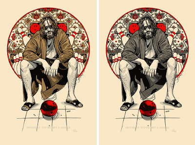 Emerald City Comic-Con 2019 Exclusive The Big Lebowski Art Print by Tyler Stout x Spoke Art