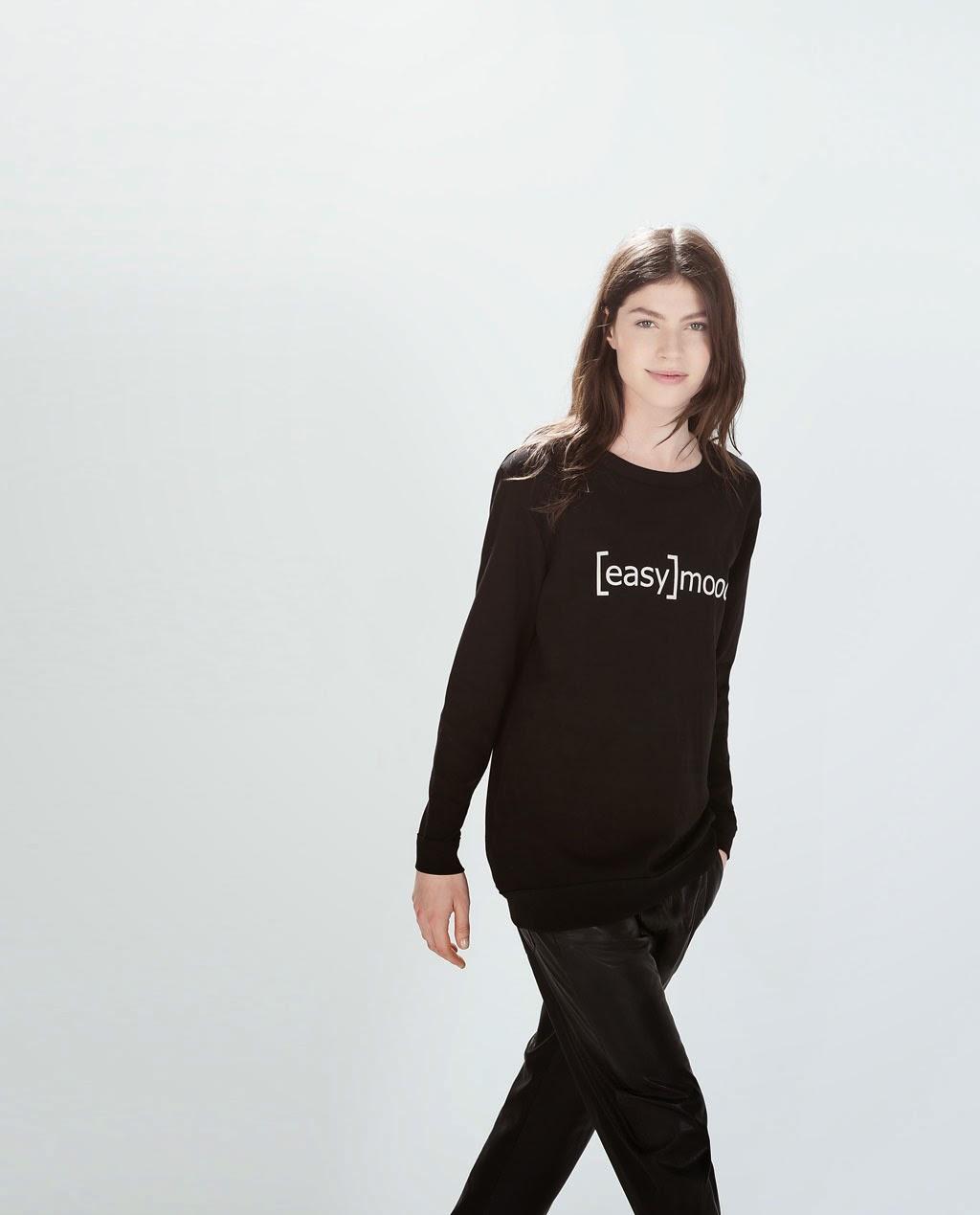 Sudadera Easy Mood de Zara Last Shopping moda sweatshirts