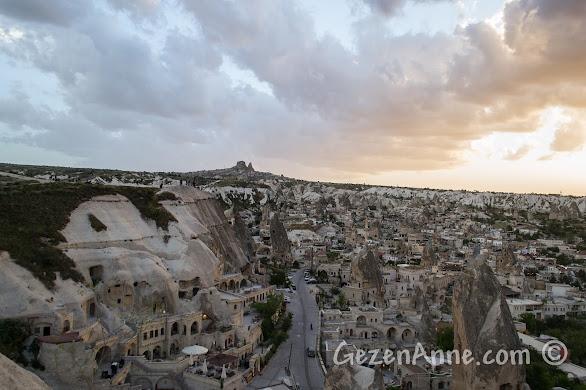 Göreme ve Kapadokya manzarası
