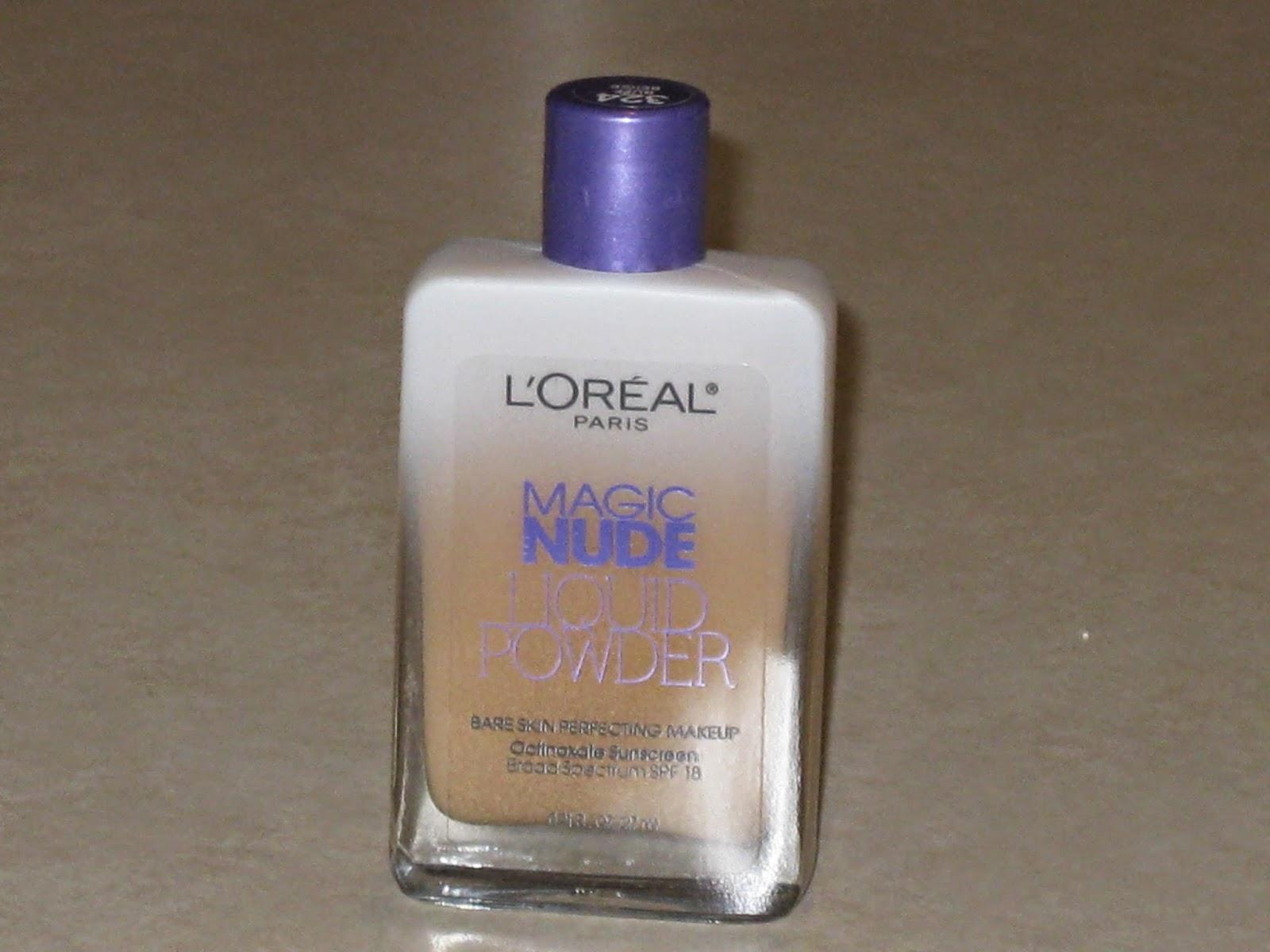 Amazon.com : LOreal Paris Magic Nude Liquid Powder Bare Skin Perfecting Makeup SPF 18, Natural
