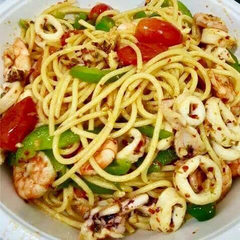 Resepi Spaghetti Seafood Aglio