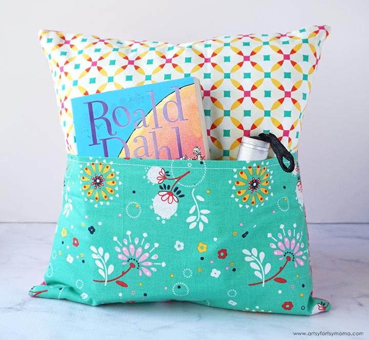 diy book pocket pillow artsy fartsy mama