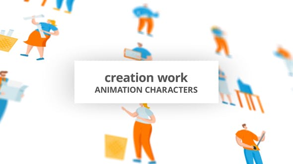 Creation work – Character Set[Videohive][After Effects][29102486]