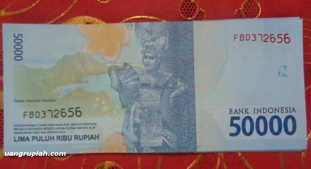 Gambar utama bagian belakang uang 50.000 rupiah 2016
