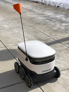 Delivery done by using robots