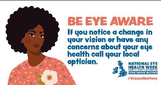 National Eye Health Week 250920 be eye aware