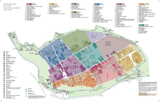 Mapa de Pompei Scavi