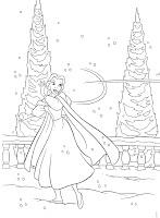 Dibujos Para Colorear Princesas Disney Navidad