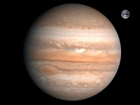 Comparison of the Earth to Jupiter