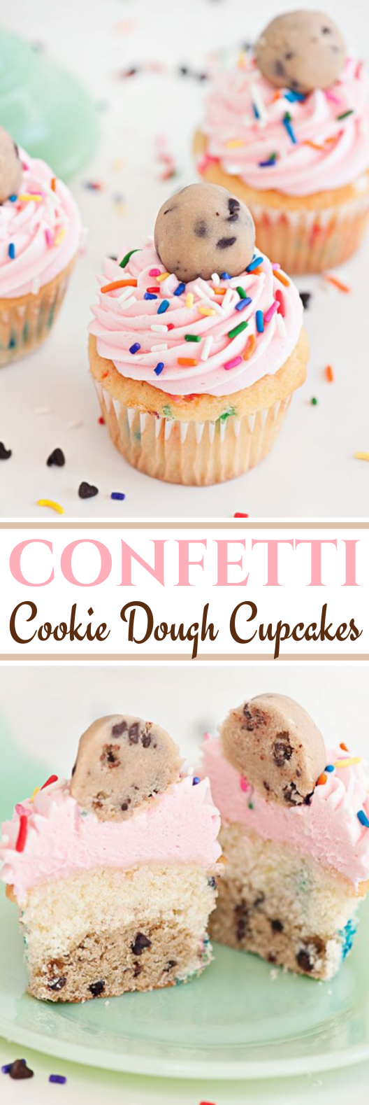 Cookie Dough Cupcakes #desserts #cake #baking #cupcakes #cookiedough