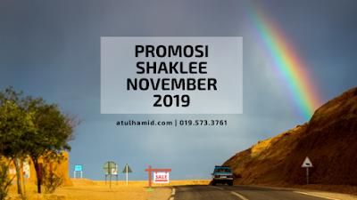 Promosi Shaklee November 2019