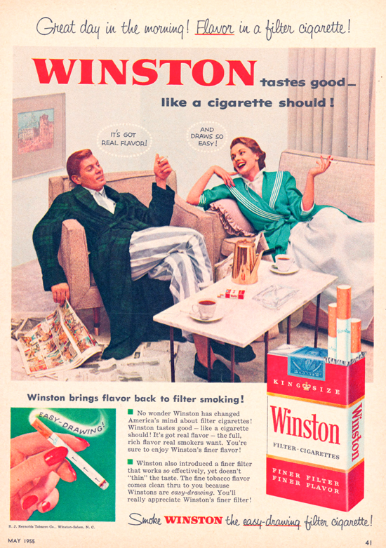 Winston advertisement 1955 - couple - A