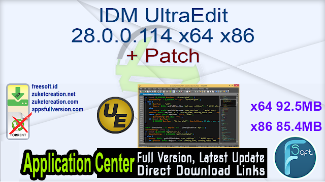 IDM UltraEdit 28.0.0.114 x64 x86 + Patch