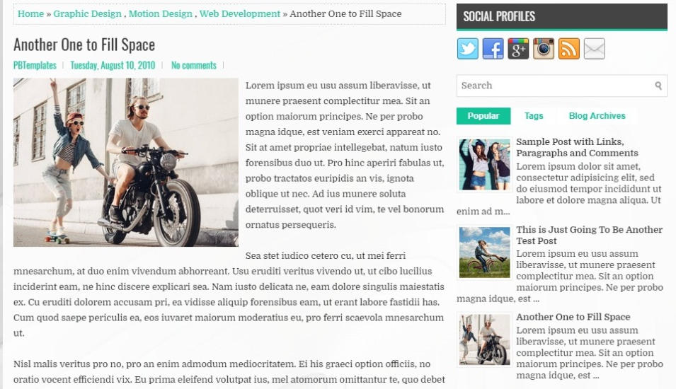 Dream Way Simple Blogger Template
