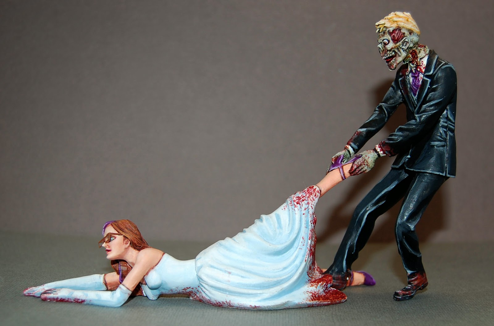 Daughters of the Emperor  Zombie Wedding Cake Topper Zombie Wedding Cake Topper