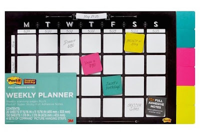 Post-it Note Weekly Planner
