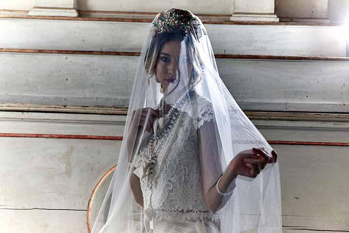 peinado para novia semi recogido 2020