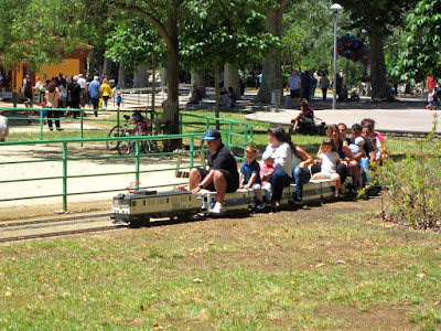 Train in Can Mercader Park