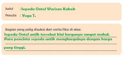 judul dan bagian yang disukai dari cerita Sepeda Ontel Warisan Kakek www.simplenews.me
